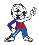 Novelty FOOTBALL HEAD MAN With Czech Republic Flag Motif For Football Soccer Team Supporter Vinyl Car Sticker 100x85mm